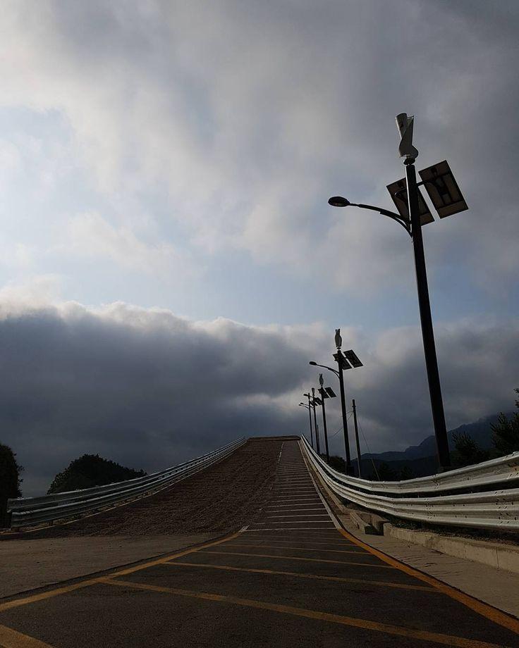 An Emergency Escape Ramp (Runaway Truck Ramp) on #Misiryeong Penetrating Road near Sokcho, Korea | 미시령관통도로 긴급제동시설