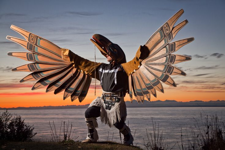 The raven dance of the Tlingit people. Click through for image source.