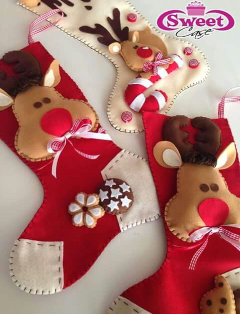 stocking christmas felt