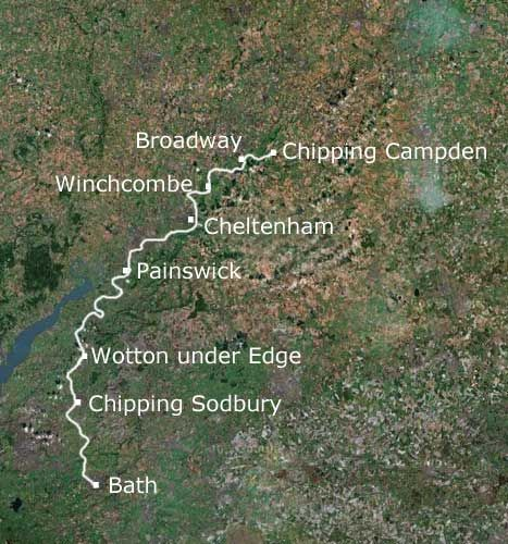 The Cotswold Way in England-106 miles in 8 days.