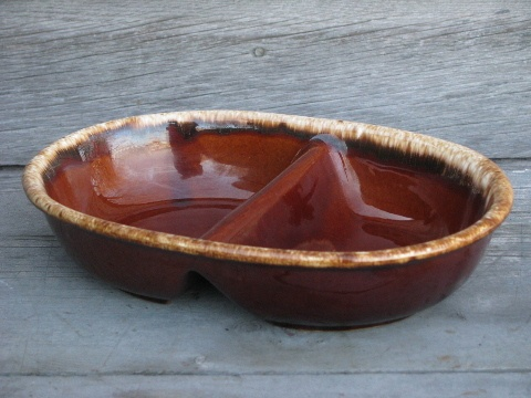 vintage Hull Oven Proof brown drip pottery ided oval serving bowl & 17 best BROWN DRIP COLLECTIONS images on Pinterest | Hull pottery ...