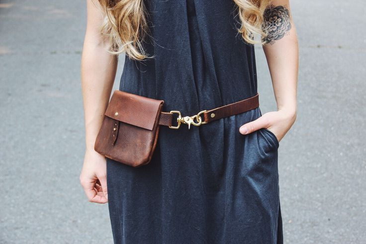 classic festival pack // full-grain brown kodiak leather + solid brass hardware // worn as hip bag, fanny pack, shoulder and cross-body by HUSTLEANDHIDE on Etsy https://www.etsy.com/listing/245702033/classic-festival-pack-full-grain-brown