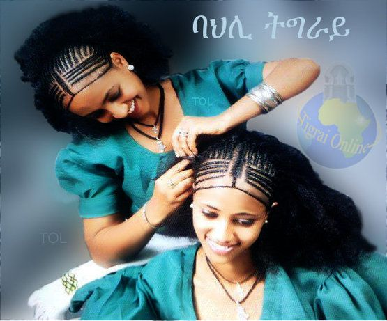 The Tigrai women hair style is unique to the people of Tigrai. It takes long time to do the fine hair braids and it is not done by anybody, there are women who specialize in the skill and that is what they do for a living. When it is done it looks like an art more than hair style. The jewelry that is worn by Tigrai women is also very unique to the region it is usually made mainly of gold and silver and sometimes copper.