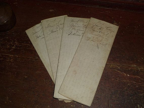 Circa 1834 Set of 4 Deeds Concerning Bowdoin College and Williams College
