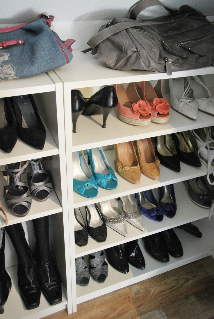 Meuble Billy Billy Bookcases From Ikea Used As Shoe Shelves | My