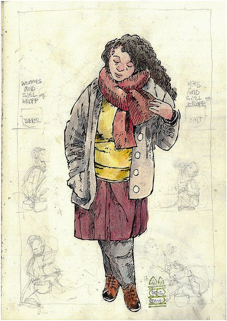 From the sketchbook: Girl in Autumn colours
