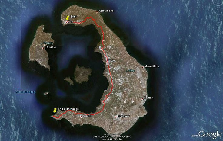#Santorini Running from one end of the island to the other. Starting location Oia village going to the lighthouse located at the other end. Insane inclines made this run extremely challenging. But the best way to really see the island. 27km total distance covered. Tip:Bring water!