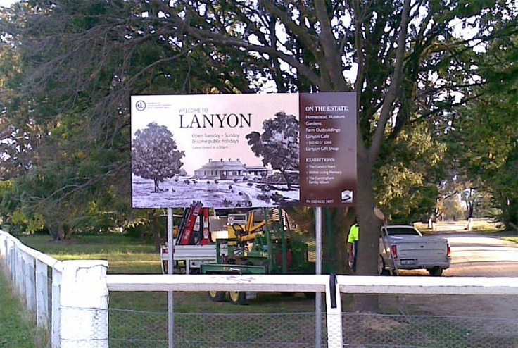Welcome To Lanyon - Signage design & development