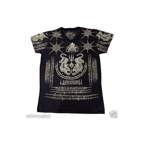 Tatouage thaïlandais Sak Yant T-shirt de travail tigre puissant Muay … Thai aimaient le …   – RIP POLYVORE