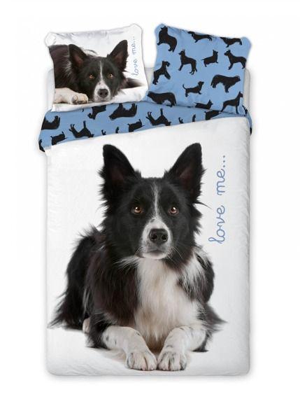 49e301fec Bavlnené posteľné obliečky 160x200 so psom | Detské posteľné ...