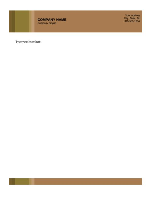 Need a Business Letterhead Template 3? Here's a free template! Create ready-to-use forms at formsbank.com