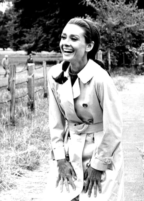 """Audrey Hepburn- Love this pic! """"Happy girls are the prettiest."""" - Audrey"""