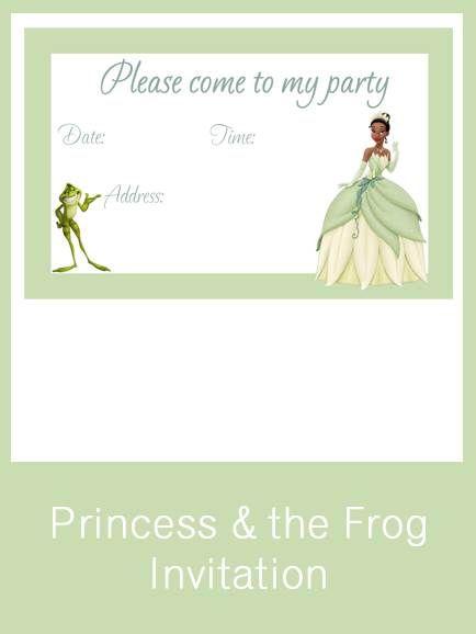 Princess The Frog Invitation Free Pdf Download Tiana The Princess And The Frog Frog Printable