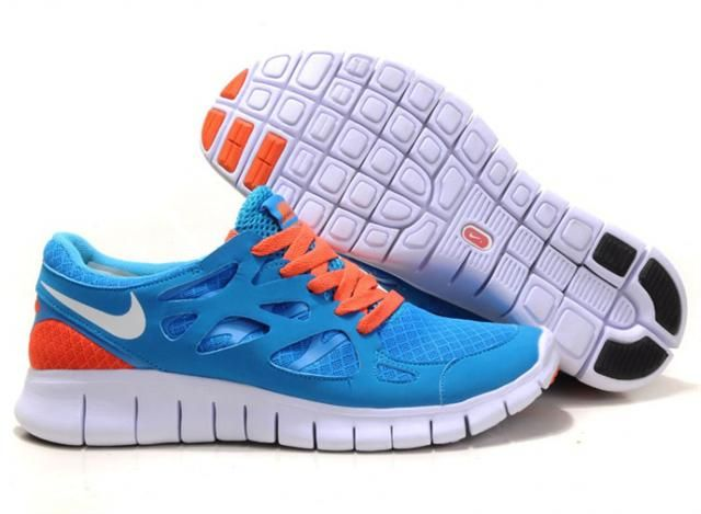 http://www.griffeyshoes.com/nike-free-run-plus-2-blue-orange-white-p-581.html NIKE FREE RUN PLUS 2 BLUE ORANGE WHITE Only $72.30 , Free Shipping!