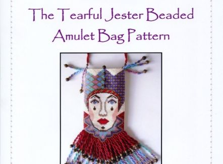 How to make The Tearful Jester Beaded Amulet Bag Pattern and Chart