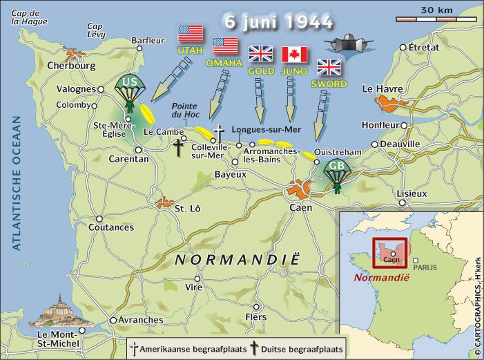 map of d day beaches in normandy