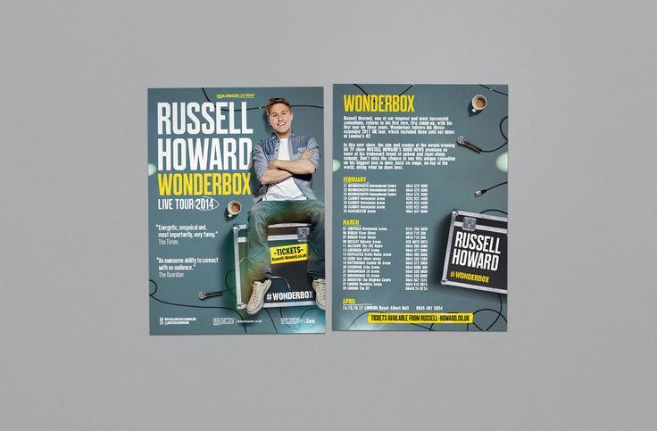 Russell Howard - Wonderbox Tour  Design and Art Direction - Jonny Costello Photography - David Venni ©fluidesign