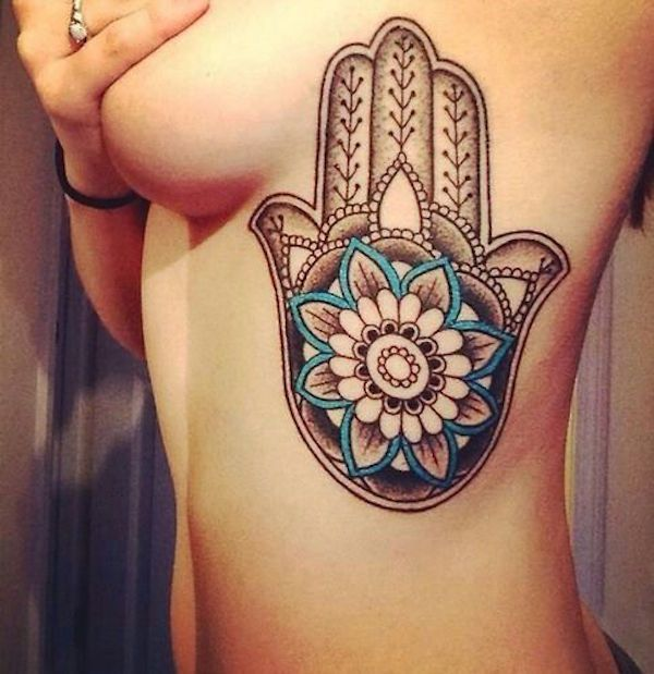 Hamsa and lotus flower #TattooModels #tattoo