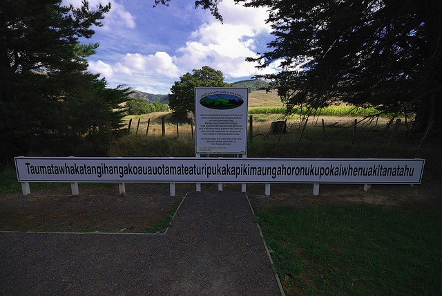 Longest Place Name in the World, NZ by Alex Cowley, via Flickr