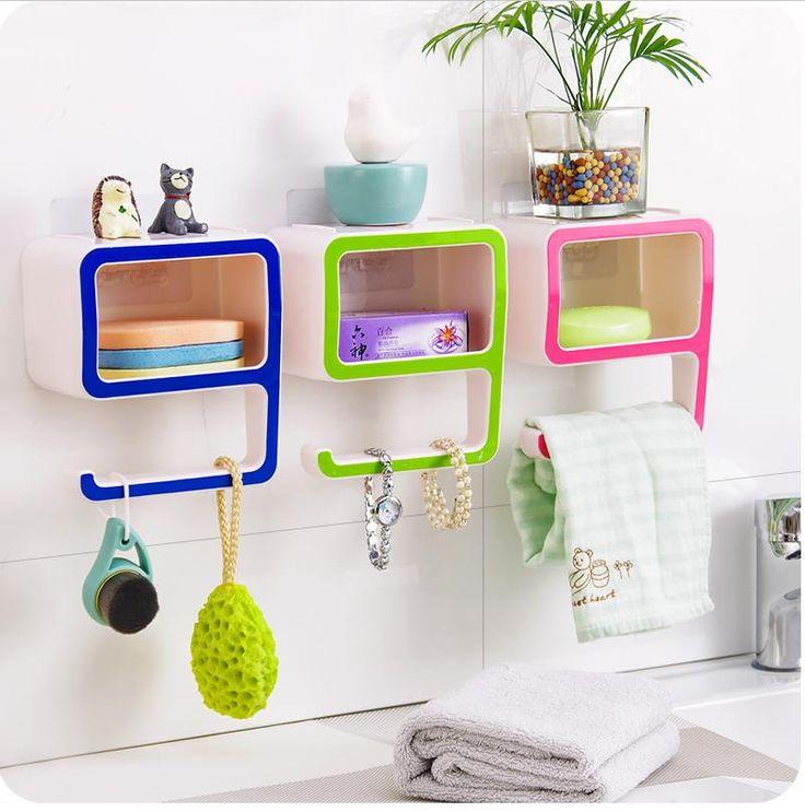 Купить товарТворческий номер 9 хранения стойки пластиковые коробки всасывания составляют ванной организаторы украсить дом розовый зеленый косметические держатель в категории Кор%D