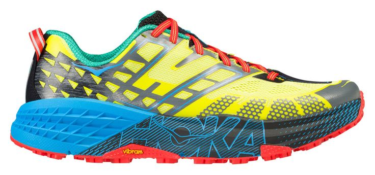 """The Hoka One One Speedgoat 2 epitomises a """"go everywhere, run everything"""" attitude. This shoe is designed to tackle all types of technical trail."""