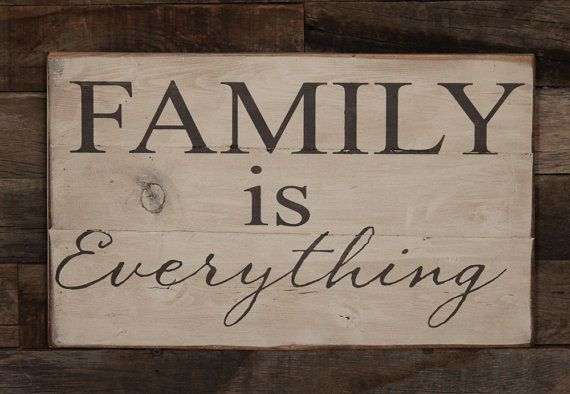 Large Wood Sign  Family is Everything by dustinshelves on Etsy, $27.00