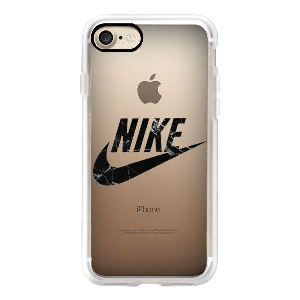 NIKE - BLACK MARBLE - iPhone 7 Case, iPhone 7 Plus Case, iPhone 7... ($40) ❤ liked on Polyvore featuring accessories, tech accessories, iphone case, apple iphone case, iphone cases, iphone cover case and iphone hard case