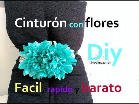 rubi mazarron ( videos tutoriales de manualidades ): Diy. Cinturón de flores muy facil
