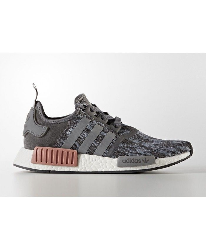 Womens Adidas NMD R1 Grey Heather Raw Pink Shoes Fashion style, with a  variety of