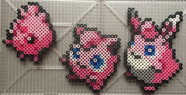 #039-#040, #174 Jigglypuff Family - Pokemon perler beads by TehMorrison