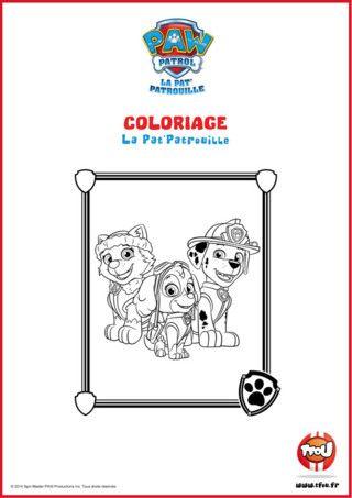 17 Best images about dessins a colorier pat patrouille on Pinterest   Coloring, Nick jr and Pictures