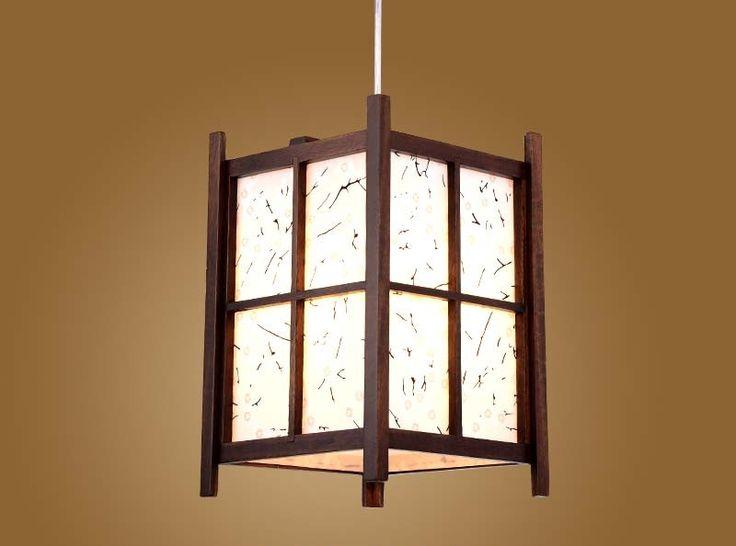 69.00$  Buy here - http://ali8c0.worldwells.pw/go.php?t=32638359790 - Japanese Pendant Lamp Washitsu Tatami Decor Wooden Shoji Lamp Restaurant Living Room Hallway Japan Vintage Lighting and lantern 69.00$