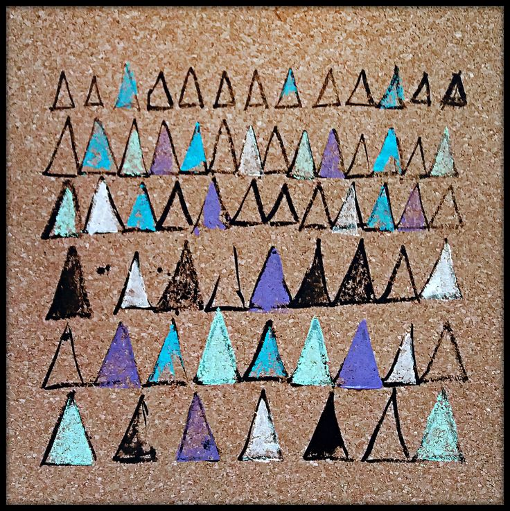 ΔΔΔ  cork, pattern, triangles, triangle, Δ, square