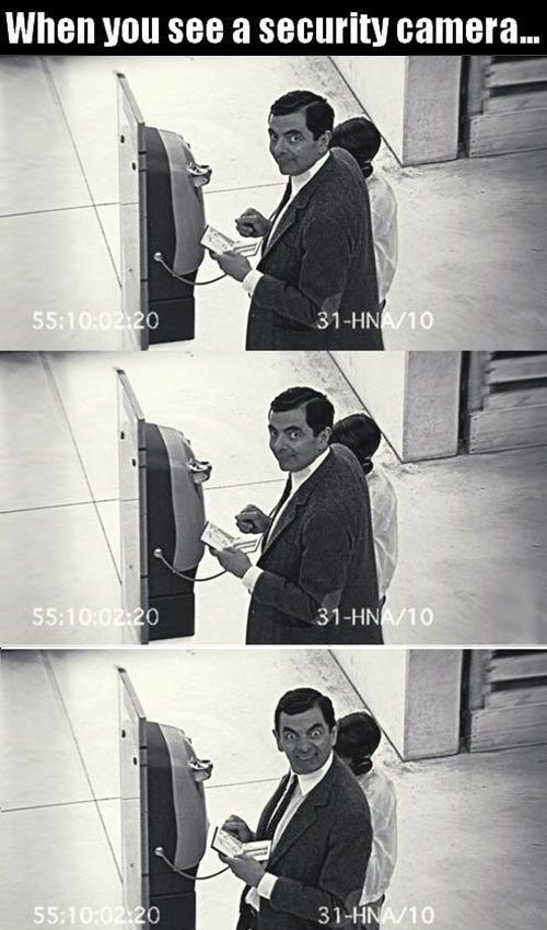 When you see a security camera