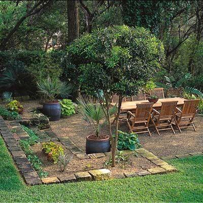 Pea gravel patio by Dunc3