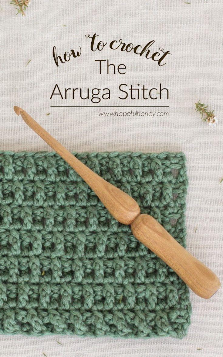 [Free Crochet Pattern] Learn A New Crochet Stitch: The Arruga Stitch