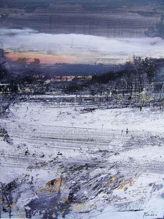 Antonio Pedretti(Italian, b.1950) Bianco Lombardo Olio su tela via