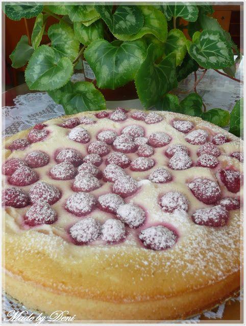 Malinovo - tvarohový koláč