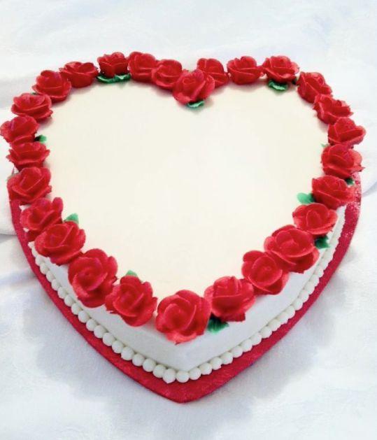Pastel ideal para San Valentín, boda, aniversario