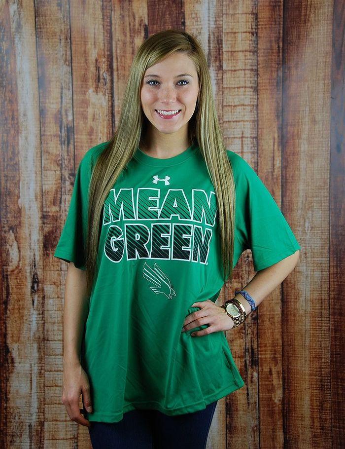 How can you show everyone your MEAN GREEN spirit? This awesome University of North Texas Under Armour t-shirt will do the job. GO UNT!
