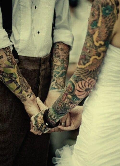<3: Love Tattoo, Tattoo Couple, Wedding Tattoo, Tattoo Sleeve, Sleeve Tattoo, Couple Tattoo, Wedding Photos, Tattoo Design, Wedding Couple