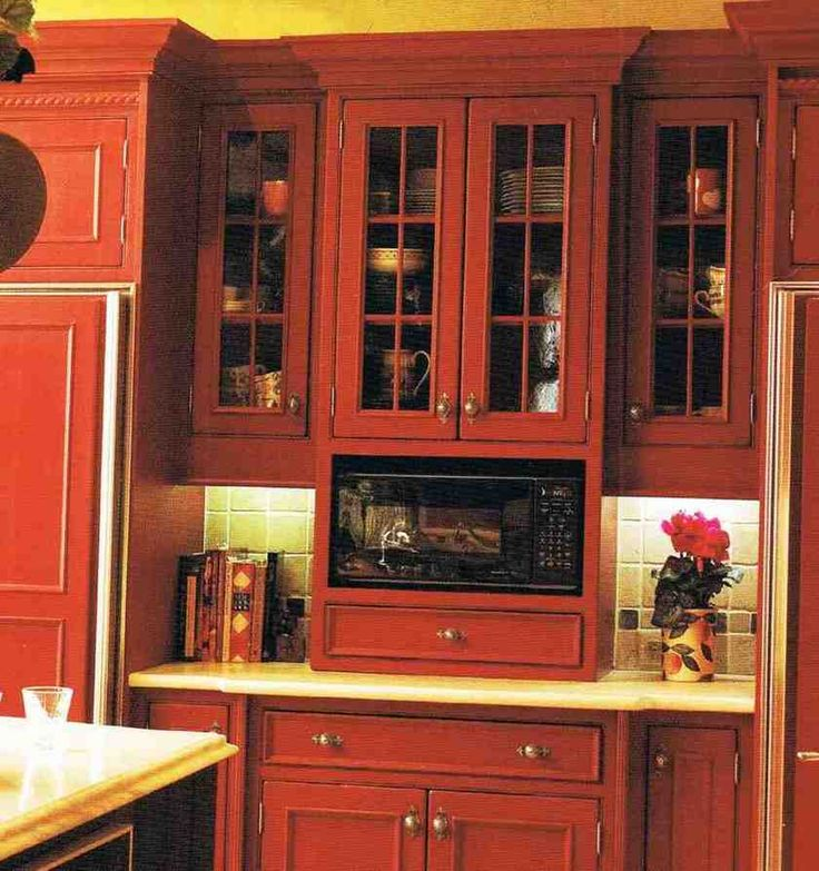 Cleveland Kitchen Cabinets: 17+ Ideas About Microwave Cabinet On Pinterest