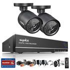 SANNCE 4CH 720P HDMI HD DVR 2Pcs 1500TVL P2P Outdoor CCTV Security Camera System