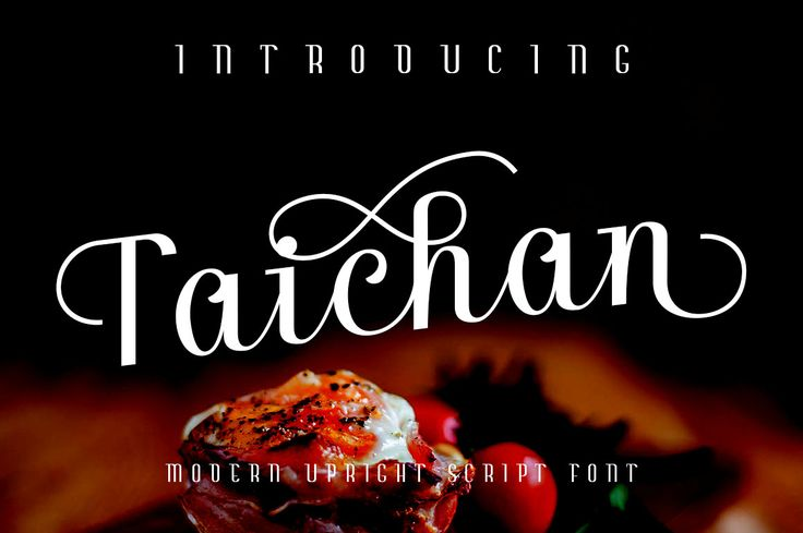 Taichan Script is a Modern Upright Script Font with Open Type Features. Enjoy this wonderful exclusive font for free only at Font Bundles.#free #font #lettering #type #typeface -partner link