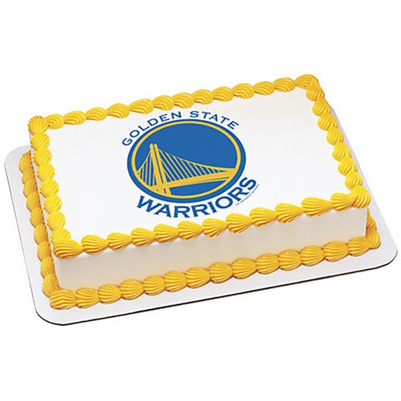 Etsy: Golden State Warriors Edible Cake and Cupcake Toppers by ArtofEricGunty.