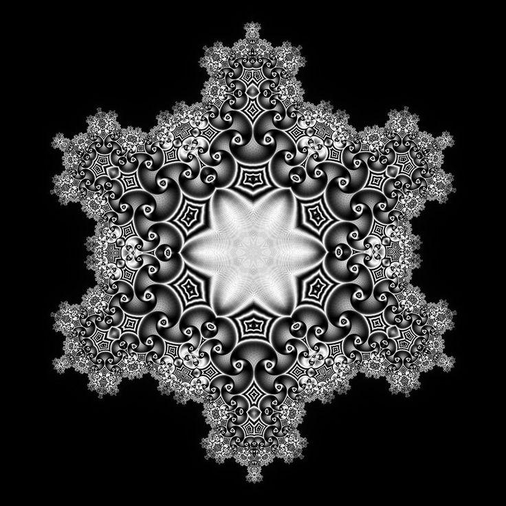 Tom Beddard's fractal snowflakes series.