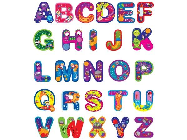 Outer space alphabet