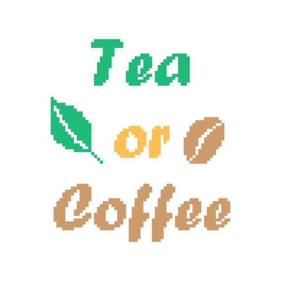 Tea Or Coffee Modèle De Point Croix Par Princessenature