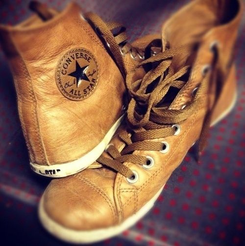 Leather Converse. Yes, I would love a pair.