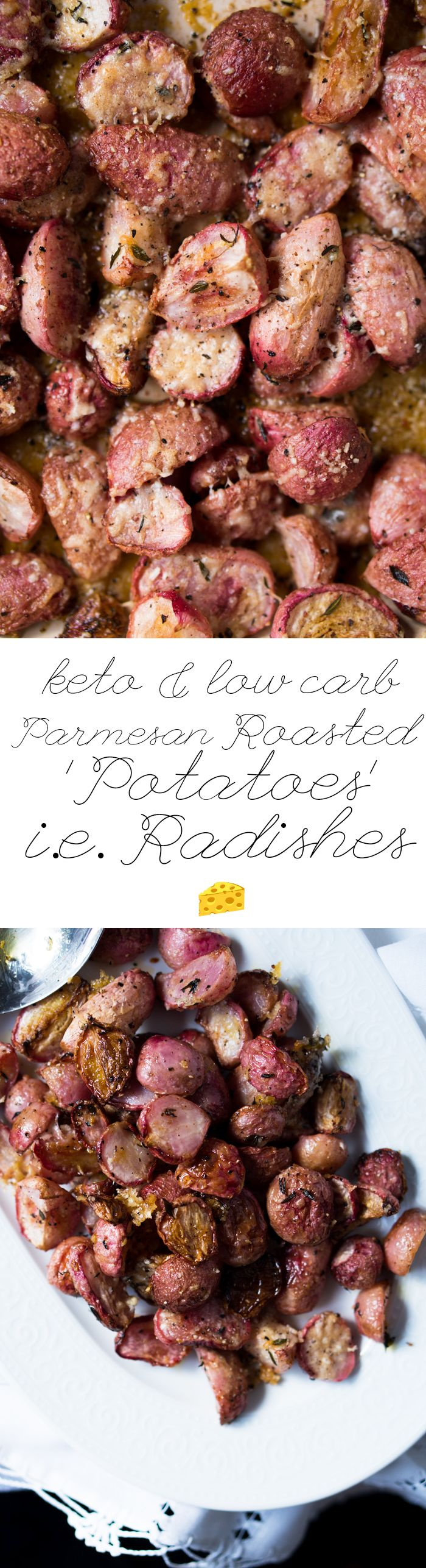 Low Carb & Keto Parmesan Roasted 'Potatoes' i.e. Radishes